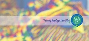 Plenary Marriage Liveblog